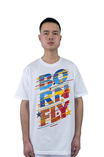 - Born Fly Intial T-Shirt (White, 3XL)