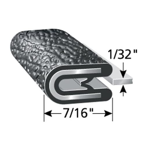 """7//16/"""" Leg Length Boats PVC Plastic Edge Protector for Sharp and Rough Surfaces Push-On Edge Guard for Cars Easy Install Trim-Lok Edge Trim Flexible Machinery Dual Gripping Fingers and More Fits 1//8/"""" Edge 100/&rsqu"""