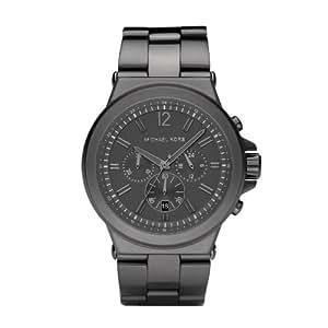 MICHAEL KORS MK8205 - Reloj analógico de cuarzo para mujer con correa de acero inoxidable, color negro