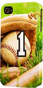 Baseball Sports Fan Player Number 1 Snap On Flexible Decorative iphone 6 plus Case