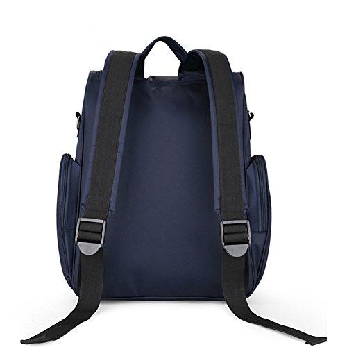 larsuyar Gran Capacidad Multifuncional bolsa de maternidad, para las mujeres embarazadas, 39cm by 31cm por 15cm morado azul