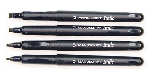 Callicreative Manuscript Italic Calligraphy Black FMedium Pen 3.6 mm