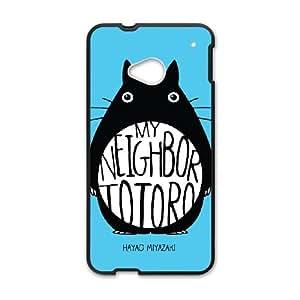 HTC One M7 Cell Phone Case Black My Neighbor Totoro Back Custom Phone Case Cover XPDSUNTR13430