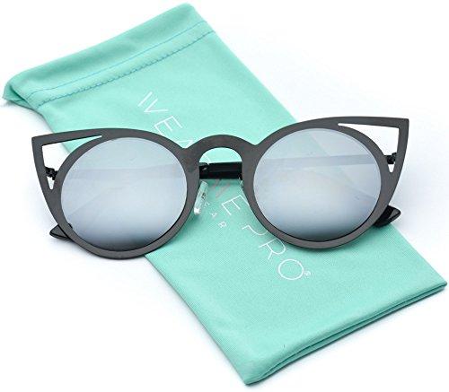 37b45b4fb51d1 Womens Cateye Retro Fashion Retro Round Lens Cat Eye - Import It All
