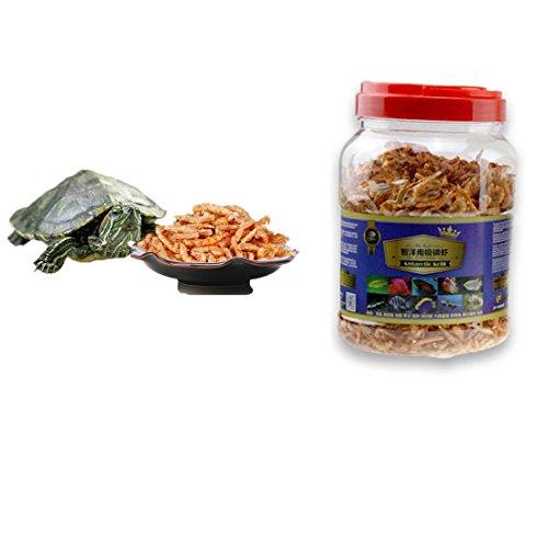 JackSuper 3000ml Aquatic Turtle Food,101.44 oz, Floating Shrimp Krill Freeze Dried for Reptile Aquarium Pond Fish Koi Cichlid Feed (3000ml)