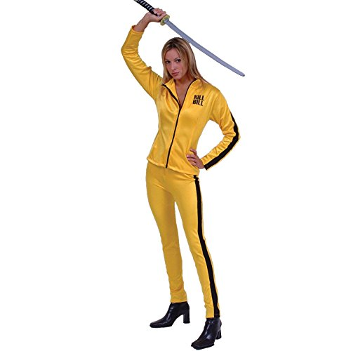[Kill Bill Costume, Size Medium 4-6] (Beatrix Kiddo Costume)