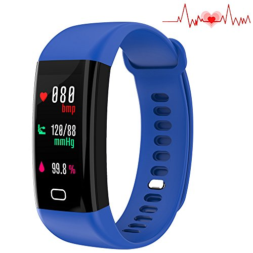 Fitness Tracker, Smart Watch 4 sports Mode, Heart Rate Monitor IP67 Waterproof Activity Tracker, Sleep & Blood Pressure Oxygen Monitor, Calorie/Step Counter Smart Wristband for IOS Android