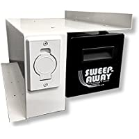 Sweep-Away Cabinet Vacuum, Right Side Mount, White Inlet Faceplate