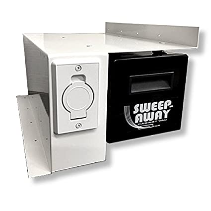 Sweep Away Cabinet Vacuum, Right Side Mount, White Inlet Faceplate