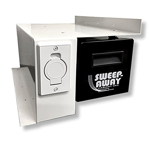 Sweep-Away Cabinet Vacuum, Left Side Mount, Black Inlet Faceplate Sweep Unit