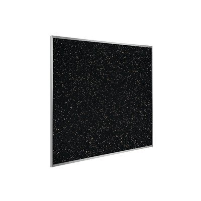 Wall Mounted Bulletin Board Surface Color: Black, Size: 4' H x 8' W