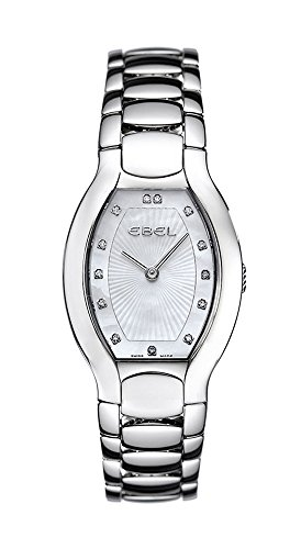 Ebel Beluga Tonneau Mini Stainless Steel Womens Watch Mother of Pearl Dial 1215088