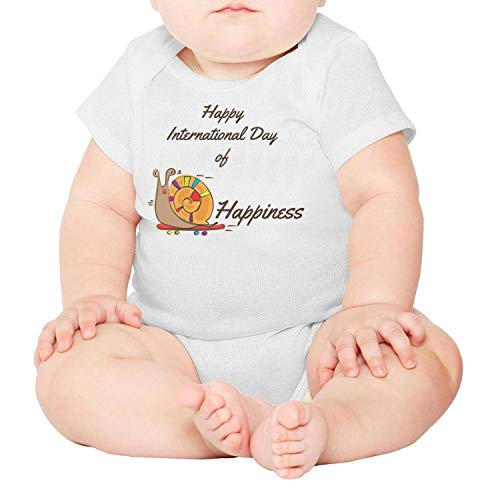 Artisfive International Happiness Day Unisex Baby Onesies Infant Bodysuit (Happiness And Cyanide Calendar)