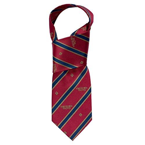Book of Kells Tie Red & Navy Stripe 100% Silk