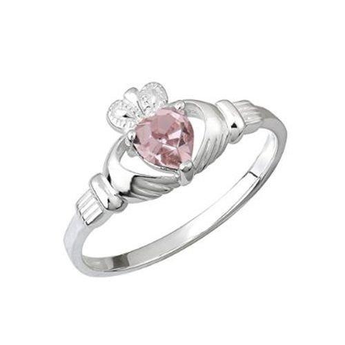 Solvar Claddagh Birthstone Ring Silver June Sz 7