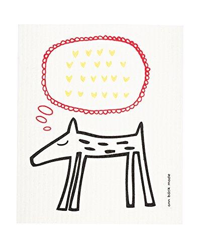 Swedish Dishcloth, Set of 2 Dogs - Hearts & Love You