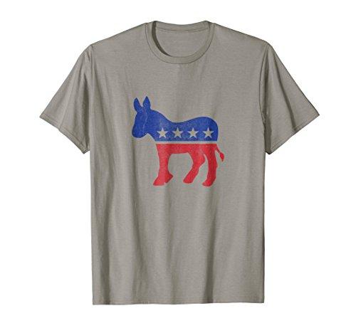 Democrat Donkey Tshirt Vintage Look Democratic Support Shirt -