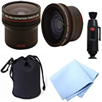 58MM Professional Accessory Kit for CANON EOS REBEL (T5i T4i T3i T3 T2i T1i XT XTi XSi SL1) DSLR Cameras - Includes: 0.16x Ultra Fisheye Lens + Carry Pouch + Lens Cleaning Pen + Celltime Lens Cleaning Cloth