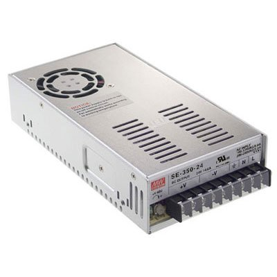 Mean Well SE-350-12 Power Supply, Enclosed, Switching, 350 W, 12 VDC, 29 Amp, 8.5'' L x 4.5'' W x 2.0'' H, Silver