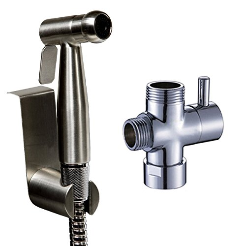 Ownace Hand Held Bidet Sprayer Premium Stainless Steel Diaper Sprayer Shattaf Complete Set with Adapter,hose and holder for Toilet cheap