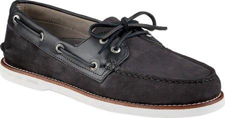 Sperry Top Sider A/O 2 Eye Suede - black Top Quality