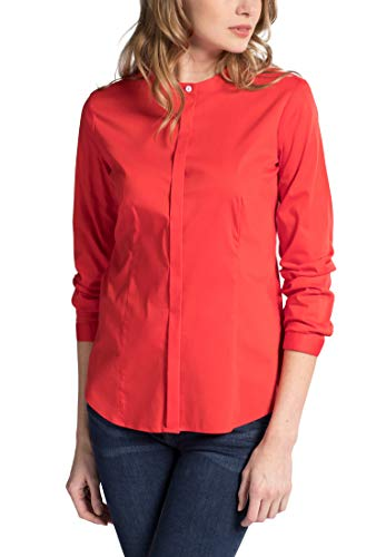 Naranja Fit Uni Long Slim Rojo Sleeve Blouse Eterna 4HAqZwW8RW