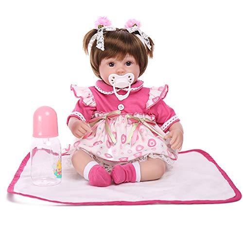 17.7 Zoll Silikon Lifelike Reborn Baby-Puppe Mit Magnetischer Dummy-Simulation Silikon Vinyl Tuch Körper Magnetische Mund Augen Öffnen Junge Mädchenspielzeug & Geschenk