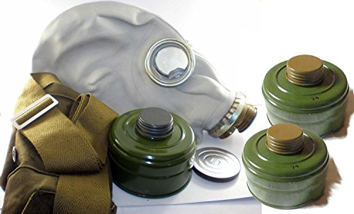 EXtra Large + 3 filters for free. Soviet Russian Military Gas mask GP-5. Grey rubber. Size - 4. SALE ()
