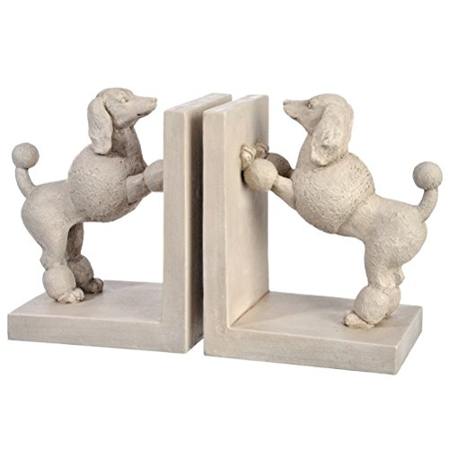 (Funny Pets Bookend Poodles)