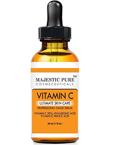 Majestic Pure Vitamin C Serum for Age SpotsWrinkles Sun Damage and Dark Circles Under the Eyes 30Ml