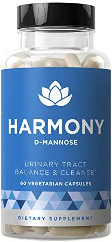 Harmony D-Mannose - Urinary Tract UT Cleanse & Bladder Health - Fast-Acting Detoxifying Strength, Flush Impurities, Clear System - Hibiscus Pills - 60 Vegetarian Soft Capsules