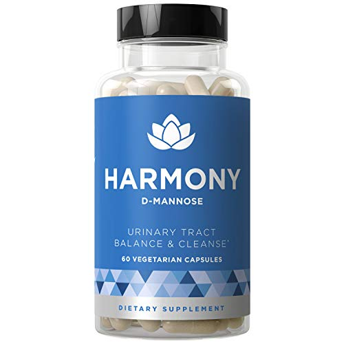 Harmony D-Mannose - Urinary Tract UT Cleanse & Bladder Health - Fast-Acting Detoxifying Strength, Flush Impurities, Clear System - Hibiscus Pills - 60 Vegetarian Soft Capsules (Best Over The Counter Yeast Infection Test)