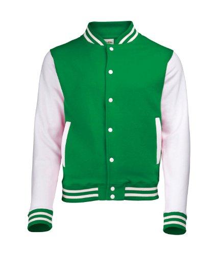 Vert Varsity Sweat Homme Jacket Shirt Awdis Spwgqn