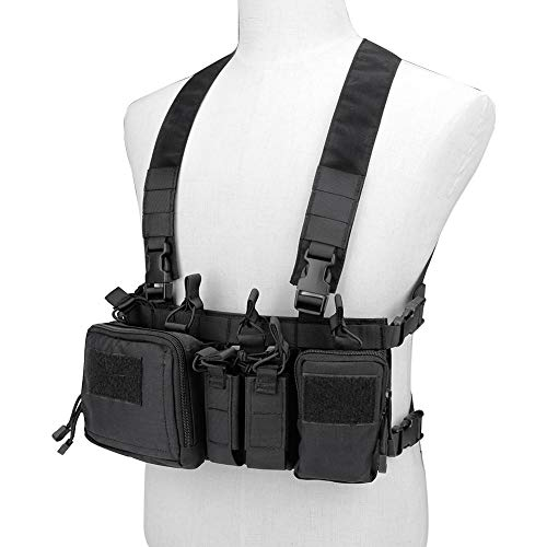 Huenco Tactical Assault Chest Rig 500D Molle Multicam Tactical Vest with Multi-Pockets