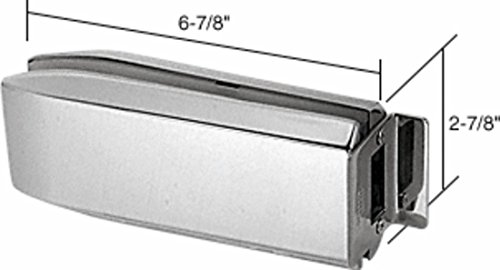 C.R. LAURENCE PTH314BS CRL Brushed Stainless PTH Series Glass Mounted Long Patch Lock (Glass Mounted Patch Lock)