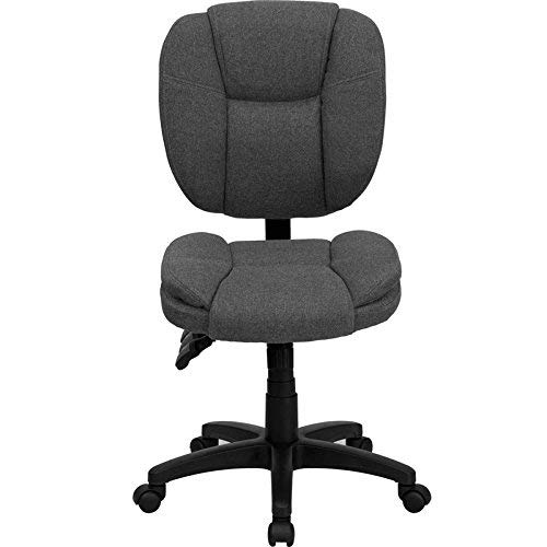 - Flash Furniture Mid-Back Gray Fabric Multifunction Ergonomic Swivel Task Chair