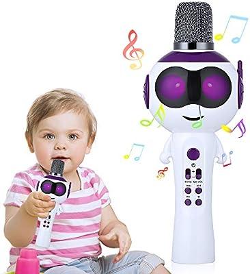 Micrófono Niños, Mbuynow Portátil Karaoke Bluetooth 5.0 con ...