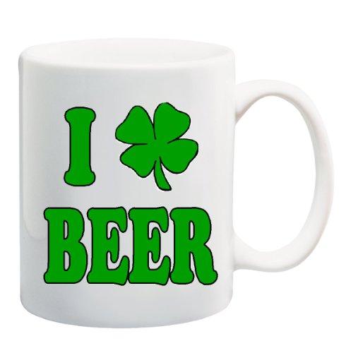 I SHAMROCK BEER Mug Cup - 11 ounces