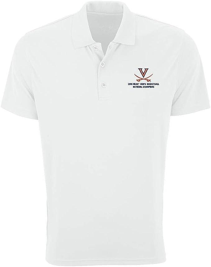 Amazon Com Elite Fan Shop Uva Virginia Cavaliers National Basketball Champions Polo Shirt 2019 White Xx Large Clothing