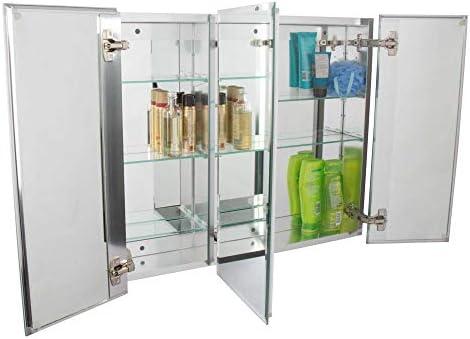 JACUZZI PD47000 PD47000 26 H x 30 W x 5-1 4 D Triple Door Medicine Cabinet