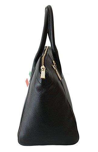 02dcd05d1e40b ... Sa-Lucca echt Leder Handtasche Damentasche Shopper Ledertasche schwarz  Made in Italy ...
