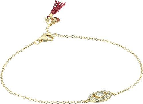 SHASHI Women's Evil Eye Pave Bracelet Gold/Vermeil One Size