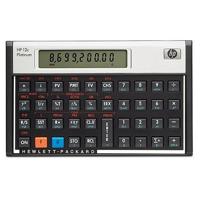HP 12C Platinum Financial Calculator calcolatrice F2231AA#B12
