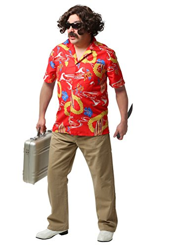 [Fun Costumes Mens Fear And Loathing In Las Vegas Adult Dr. Gonzo Costume Large] (Gonzo Adult Costumes)