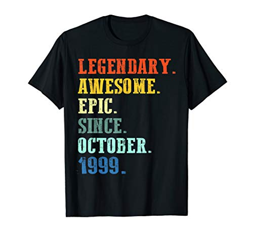 Legendary Awesome Epic Since October 1999 20 Years Old T-Shirt