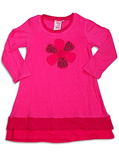 (ME ME ME BY LIPSTIK - Little Girls Long Sleeve Dress, Fuchsia, 95% Rayon 5% Spandex)