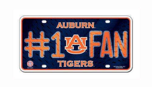 Rico NCAA Auburn Tigers #1 Fan Metal License Plate ()