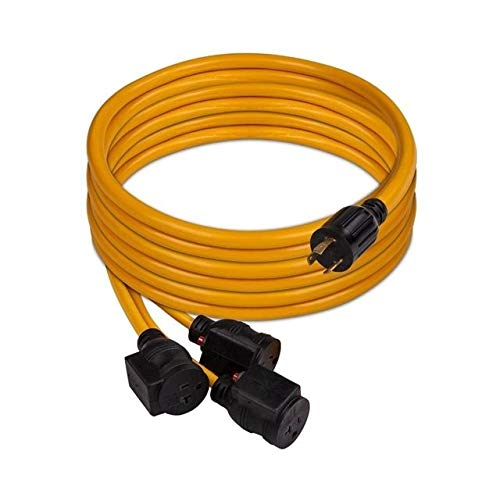 Firman 1105 30 Amp Generator Power Cord (L5-30P to 3x5-20R), Black by Firman (Image #2)