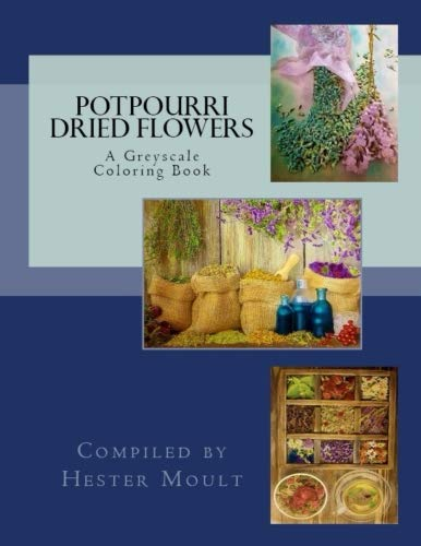 (Potpourri & Dried Flowers: A Greyscale Coloring Book)