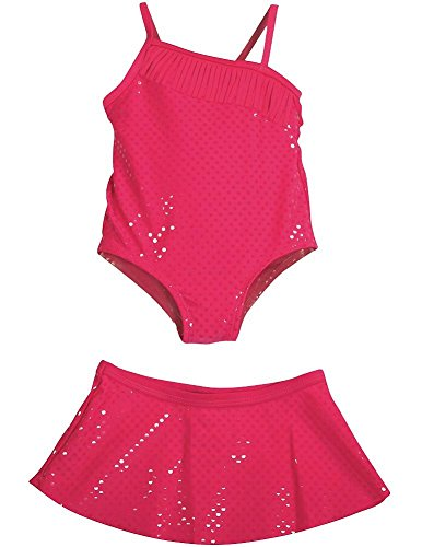 Baby Buns - Baby Girls 2PC SPF 50 Swimsuit Set, Pink 35404-18Months